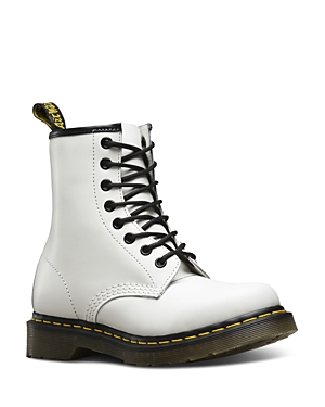 Dr. Martens Women\\\'s 1460 Smooth White Lace Up Boots