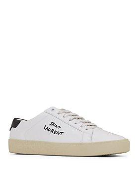 Saint Laurent - Men's Court Classic SL/06 Low Top Leather Sneakers