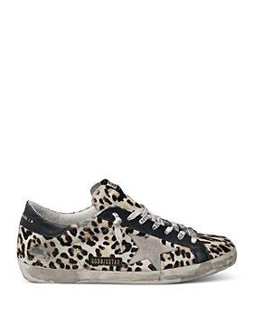 Golden Goose Deluxe Brand - Unisex Superstar Leopard Print Lace Up Sneakers