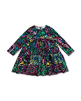 Stella McCartney - Girls' Fireworks Print Tiered Dress - Big Kid