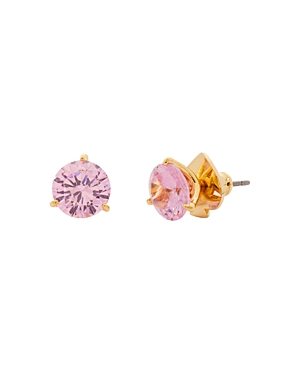 Kate Spade KATE SPADE NEW YORK BRILLIANT STATEMENTS GOLD-TONE CUBIC ZIRCONIA 3 PRONG STUD EARRINGS