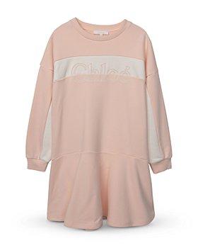 Chloé - Girls' Logo Long Sleeve Dress - Big Kid