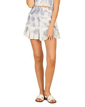 Vintage Havana - Tie Dyed Tiered Mini Skirt