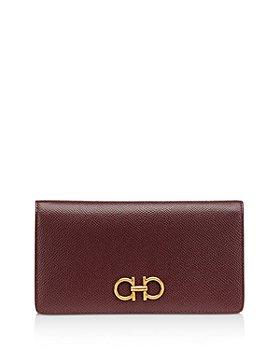 Salvatore Ferragamo - Gancini Mini Leather Continental Wallet