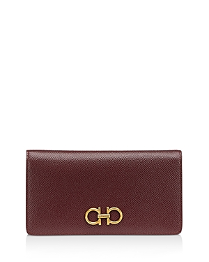 Salvatore Ferragamo Gancini Mini Leather Continental Wallet