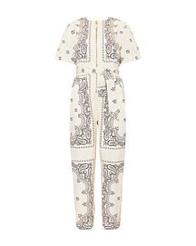 Tory Burch - Printed Poplin Jumpsuit