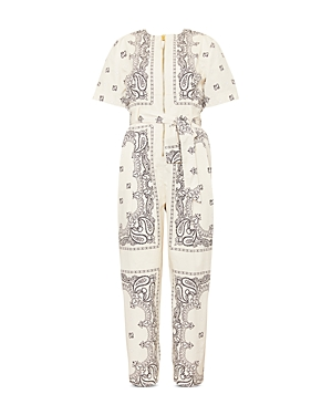 Tory Burch Cottons PRINTED POPLIN JUMPSUIT