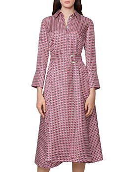 BOSS - Danimala Printed Silk Shirt Dress
