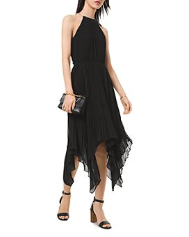 MICHAEL Michael Kors - Pleated Handkerchief Hem Dress