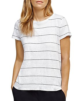 Eileen Fisher - Striped Linen Tee