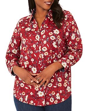 Lauren Floral Print Wrinkle Free Sateen Shirt