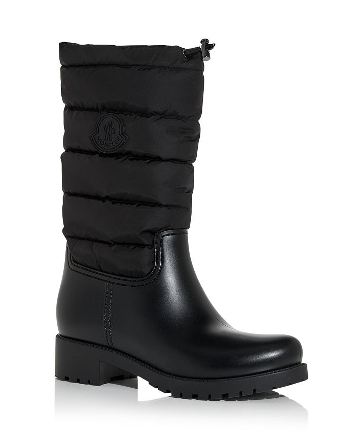 Moncler Boots WOMEN'S GINETTE CHANNEL-QUILTED RAIN BOOTS