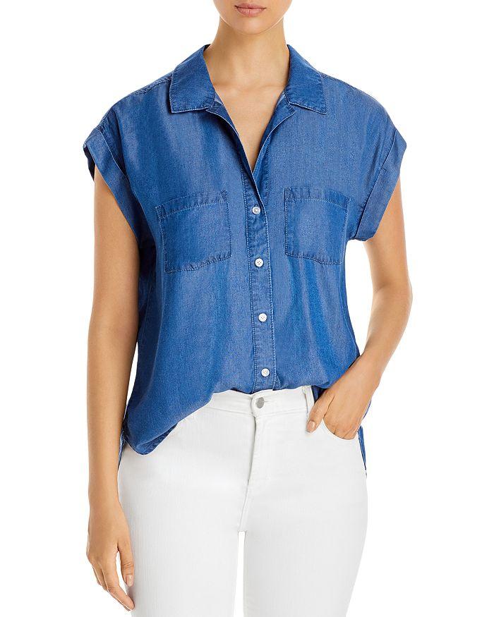 Alison Andrews Short Sleeve Shirt In Medium Indigo