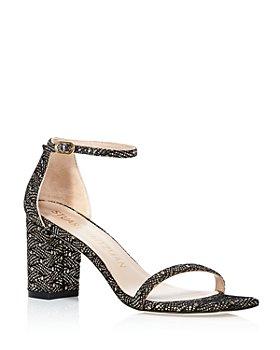 Stuart Weitzman - Women's Amelina Strappy Block Heel Sandals