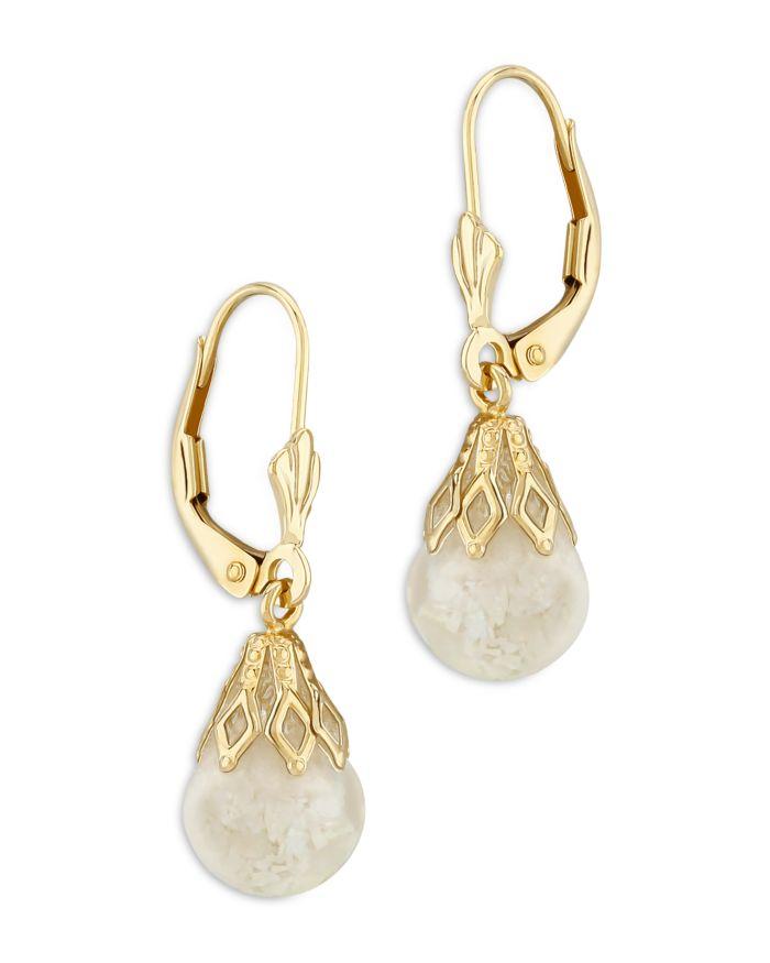 Bloomingdale's Crushed Opal Drop Earrings in 14K Yellow Gold - 100% Exclusive  | Bloomingdale's