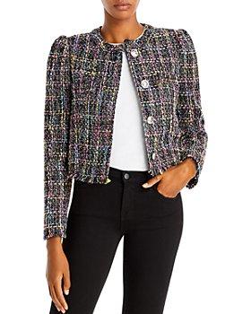 AQUA - Puff Sleeve Tweed Jacket - 100% Exclusive