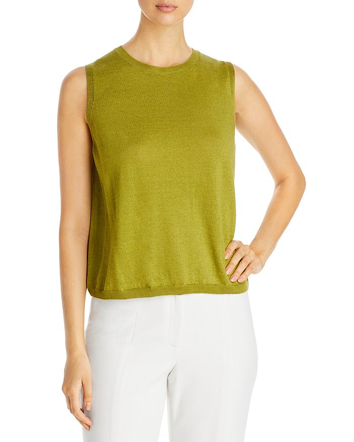 Eileen Fisher SLEEVELESS ORGANIC LINEN & COTTON SWEATER