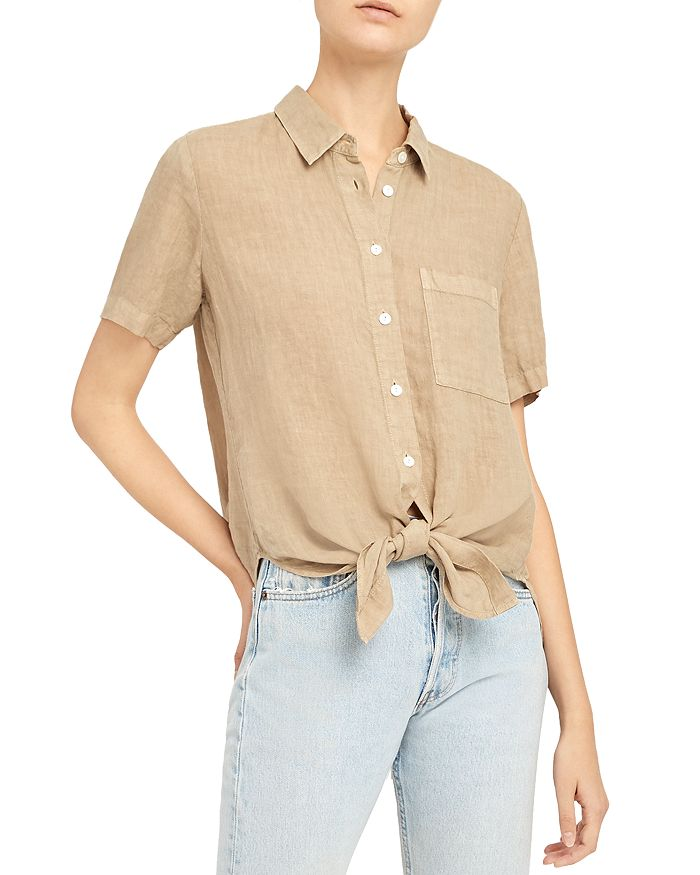 Theory HEKANINA BUTTON-UP TOP
