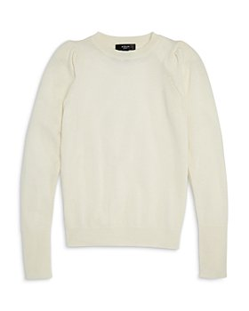 AQUA - Girls' Cashmere Puff Sleeve Sweater, Big Kid - 100% Exclusive