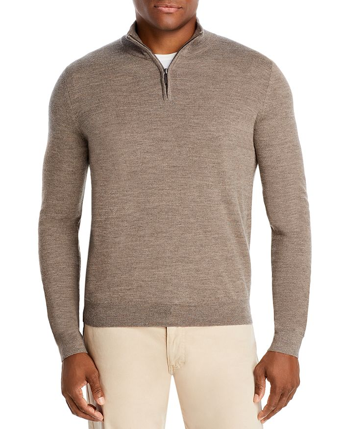 The Men's Store at Bloomingdale's - Quarter-Zip Merino Sweater - 100% Exclusive