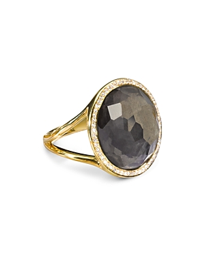 Ippolita 18K Yellow Gold Lollipop Pyrite Doublet & Diamond Ring-Jewelry & Accessories