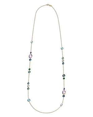 Ippolita 18K Rock Candy Long Station Necklace in Hologem, 39-Jewelry & Accessories