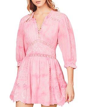 LoveShackFancy - Leno Cotton Embroidered Mini Dress