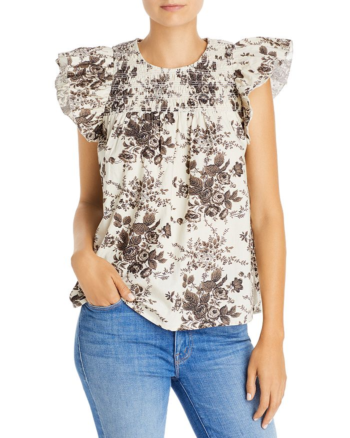 Lini Jane Top - 100% Exclusive In Black/white Floral