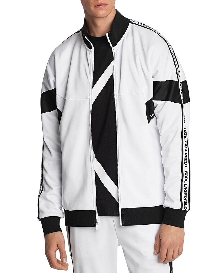 KARL LAGERFELD PARIS - Color Block Slim Fit Track Jacket