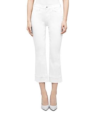 L\\\'Agence Jada Crop Baby Bootcut Jeans in Blanc-Women