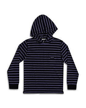 Quiksilver - Boys' Zermet Cotton Blend Stripe Hooded Tee - Big Kid
