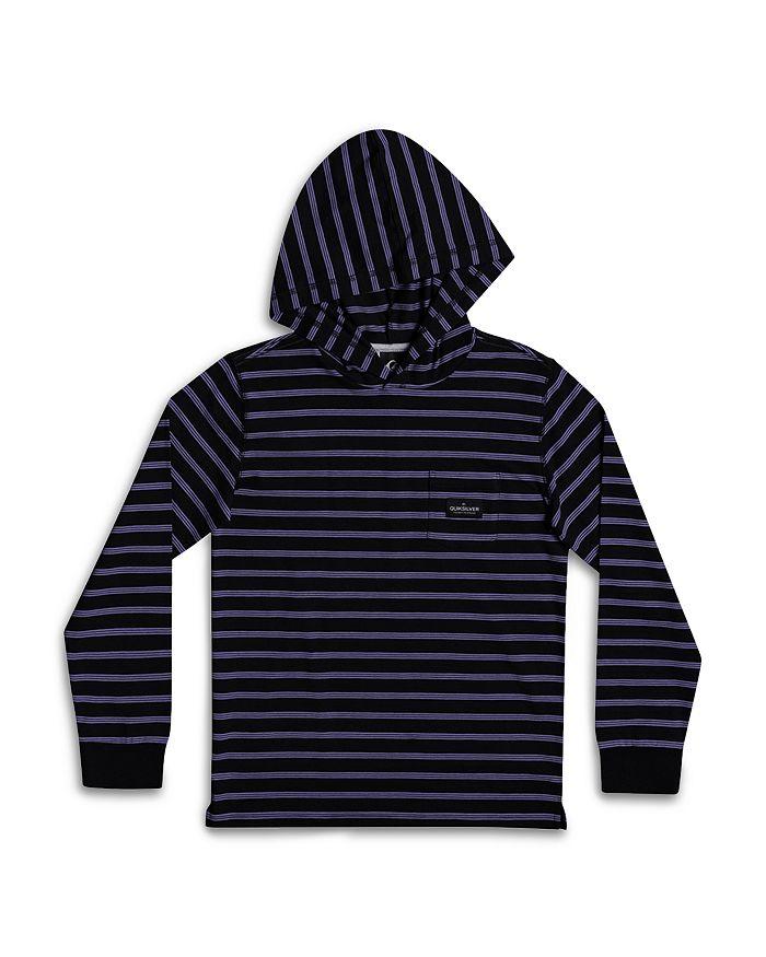 Quiksilver - Boys' Zermet Cotton Blend Stripe Hooded Tee - Big Kid