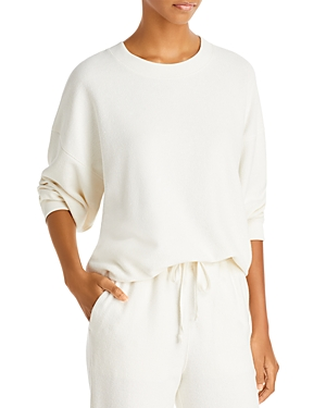Vince Ribbed Long Sleeve Sweatshirt