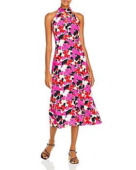 MILLY - Adrian Viola Print Dress
