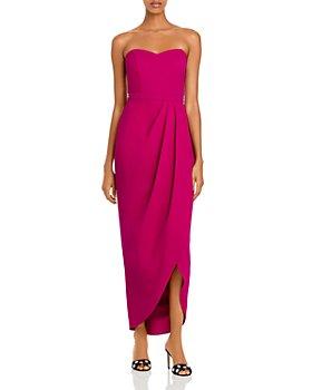 AQUA - Strapless Faux Wrap Gown - 100% Exclusive