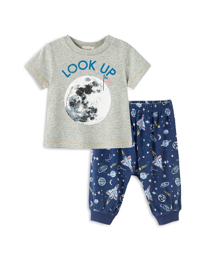 Peek Kids - Boys' Justin Look Up Space Tee & Printed Pants Set - Baby