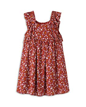 Peek Kids - Girls' Jean Floral Print Dress - Little Kid, Big Kid
