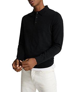 REISS - Trafford Merino Wool Long Sleeve Polo