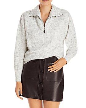 AQUA - Zip Turtleneck Sweater - 100% Exclusive