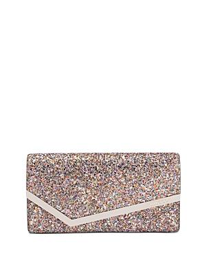 Jimmy Choo Emmie Glow in the Dark Glitter Clutch-Handbags