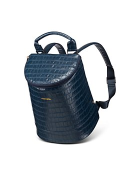 Corkcicle - Eola Bucket Navy Croc Embossed Cooler Bag