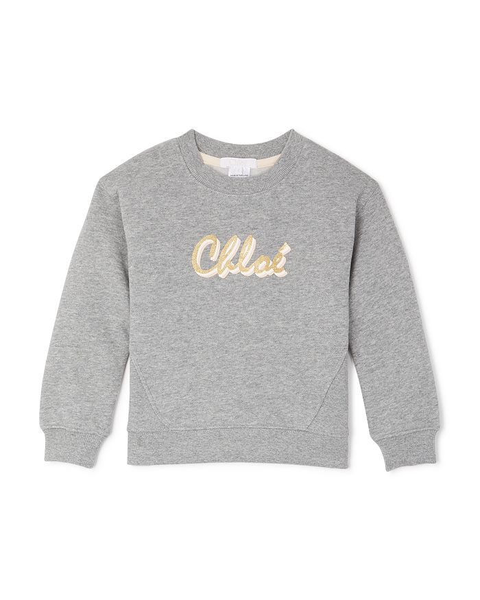 Chloé - Girls' Glitter Logo Sweatshirt - Little Kid
