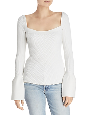 3.1 Phillip Lim Ribbed Bell Sleeve Sweater
