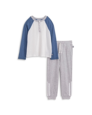 Splendid Boys\\\' Raglan Henley Tee & Jogger Pants Set - Little Kid-Kids