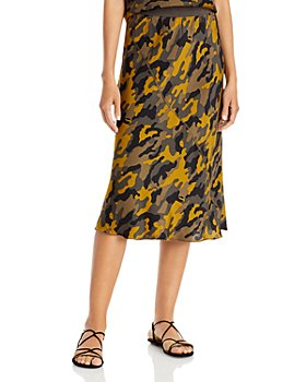 ATM Anthony Thomas Melillo - Silk Camo Midi Skirt