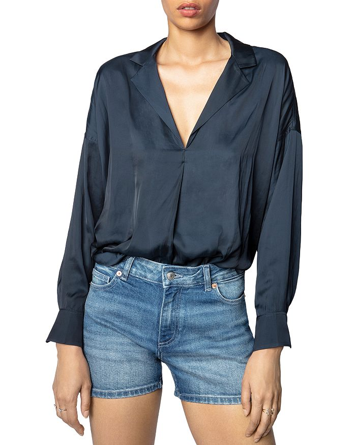 Zadig & Voltaire - Tamy Notched Lapel Top
