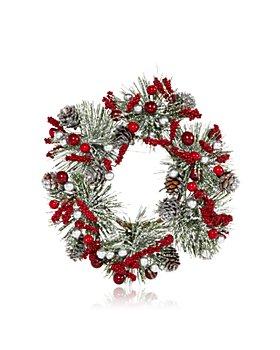 "Salzburg Creations - 4"" Silver Winterberry Wreath - 100% Exclusive"
