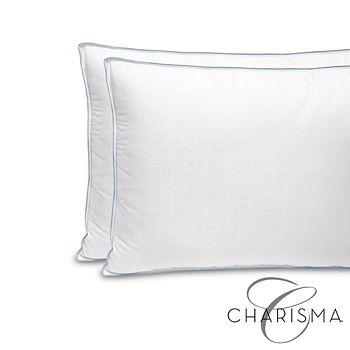 Soft-Tex - Charisma Gel Infused Memory Foam Cluster and Gel Fiber King Pillow, Pair