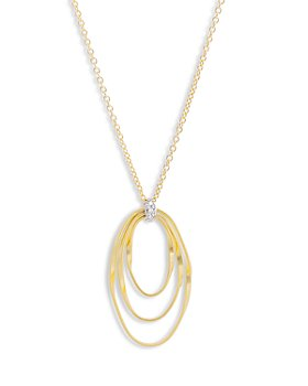 Marco Bicego - 18K Yellow Gold Onde Diamond Short Pendant Necklace, 16.5""