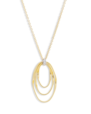Marco Bicego 18K Yellow Gold Onde Diamond Short Pendant Necklace, 16.5-Jewelry & Accessories